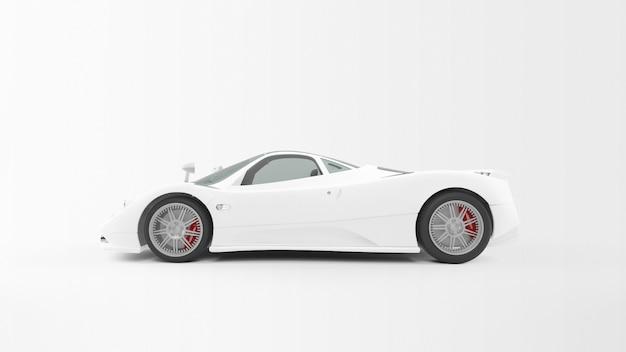 分離された白い車 無料 Psd