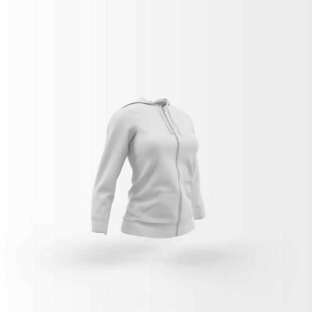 White cardigan floating on white Free Psd