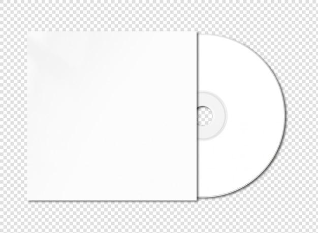 Белый cd - dvd макет изолированы Premium Psd