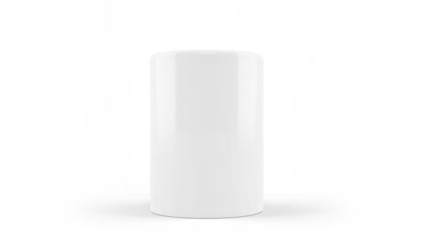 White ceramic mug mockup isolated Free Psd
