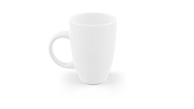Белая керамическая кружка макет изолированы Бесплатные Psd