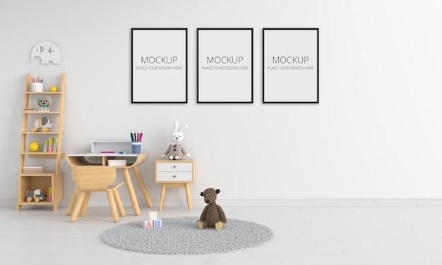 White children room interior for mockup Premium Psd