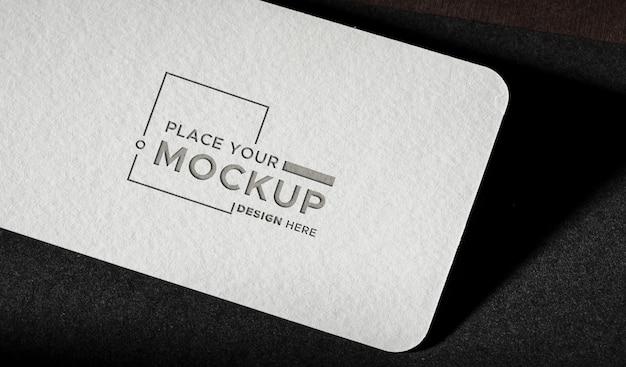 White close-up business card mock-up Premium Psd