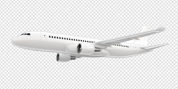Белый самолет коммерческой авиакомпании. Premium Psd