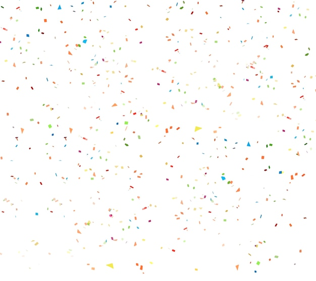 White confetti background Premium Psd