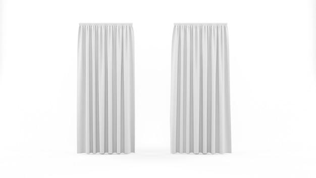 Белые шторы изолированные Бесплатные Psd