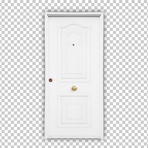 White door isolated Premium Psd