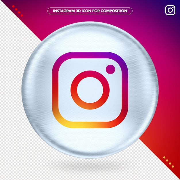 White ellipse 3d instagram Premium Psd