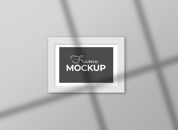 White frame with shadows mockup Free Psd