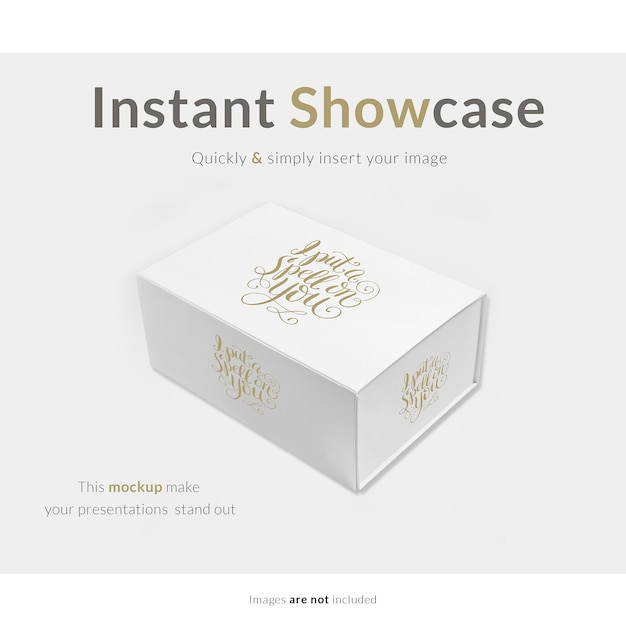 white gift box mock up psd file free download