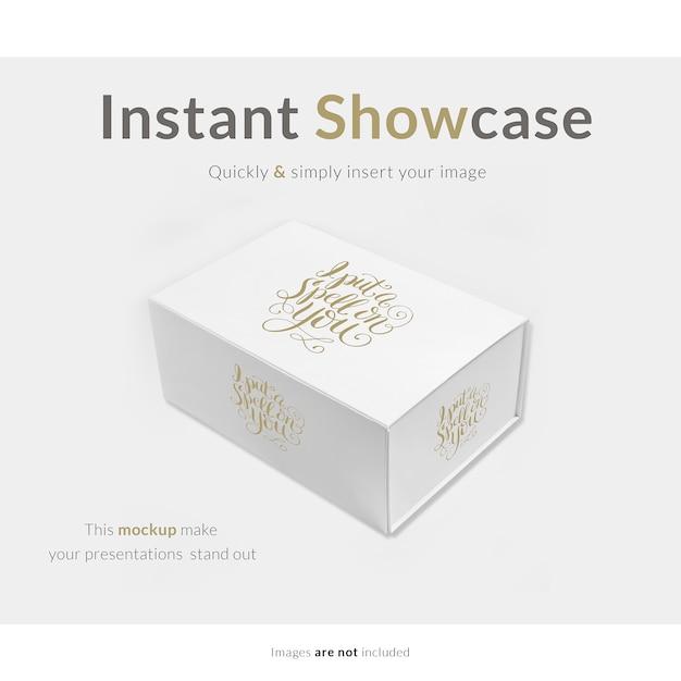 하얀 선물 상자를 모의 무료 PSD 파일