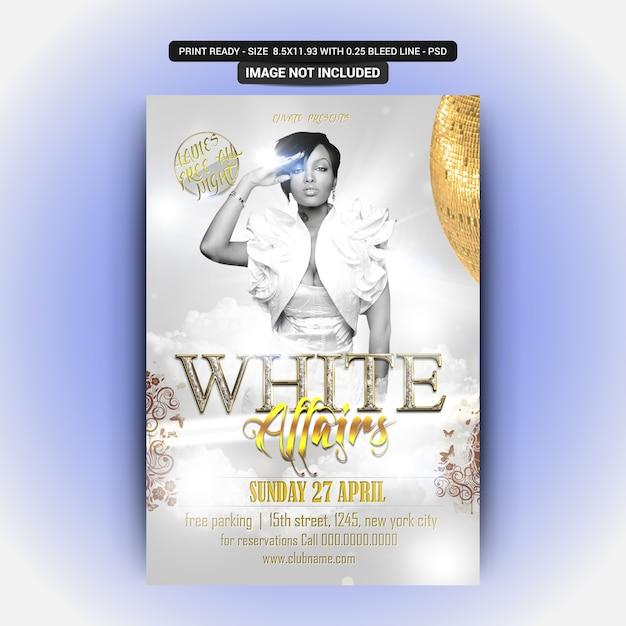 White girl party flyer Premium Psd