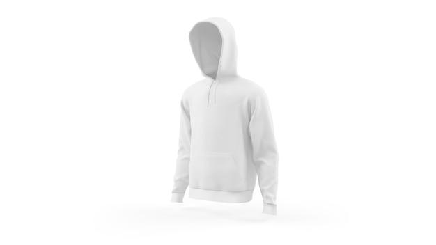 Modello di mockup con cappuccio bianco isolato, vista frontale Psd Gratuite