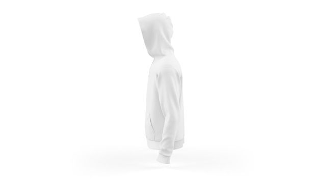 White hoodie mockup template isolated, side view Free Psd