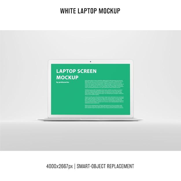 White laptop mockup Free Psd