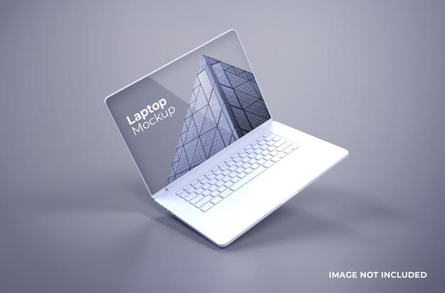 ホワイトマックブックプロモックアップ Premium Psd
