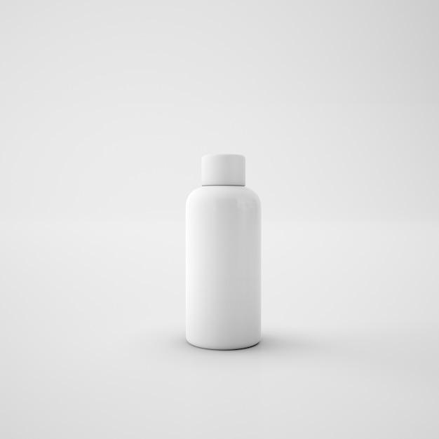Белая металлическая бутылка Бесплатные Psd