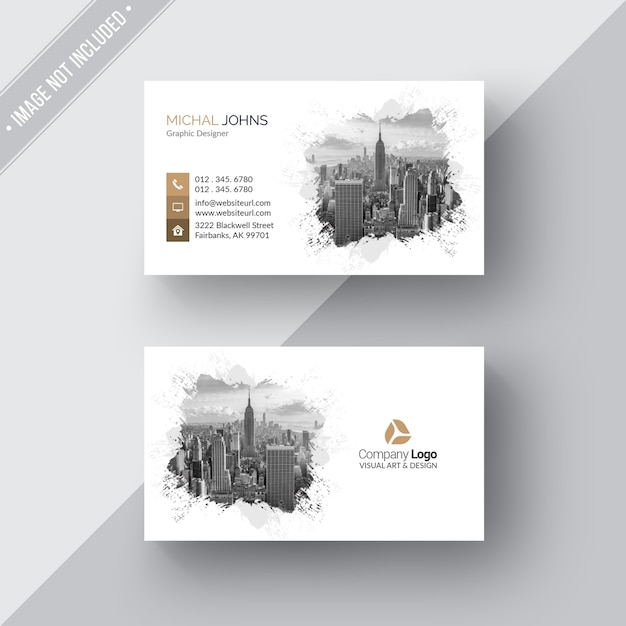 White modern business card psd file free download white modern business card free psd reheart Choice Image