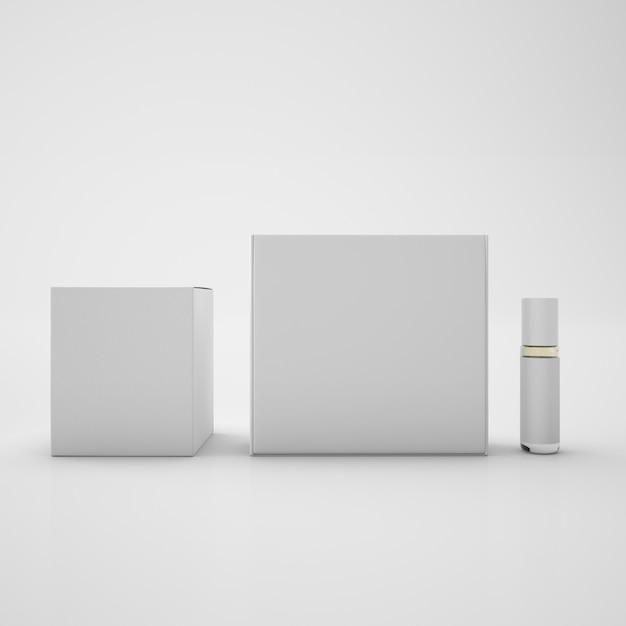 Белые пакеты и металлическая бутылка Бесплатные Psd