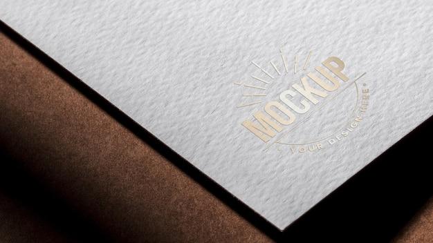Libro bianco biglietto da visita mock-up Psd Gratuite