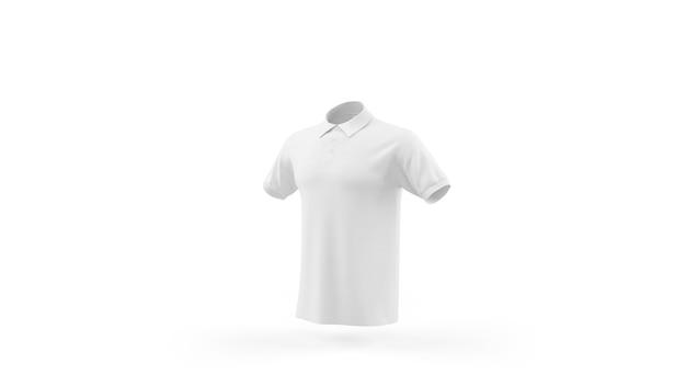 화이트 폴로 셔츠 이랑 템플릿 절연, 전면보기 무료 PSD 파일