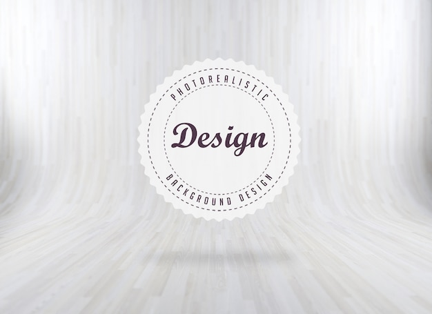 White realistic wood background Free Psd