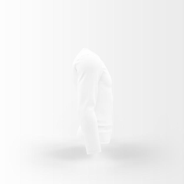 Silhouette bianca di maglietta Psd Gratuite