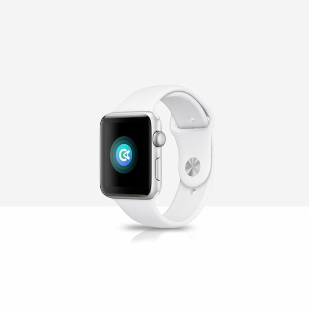 White smartwatch mock-up Premium Psd