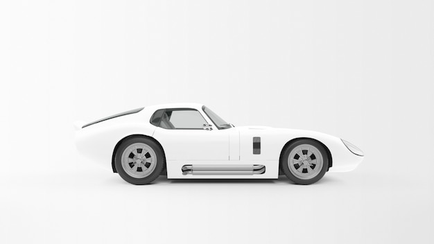 White sport car Free Psd