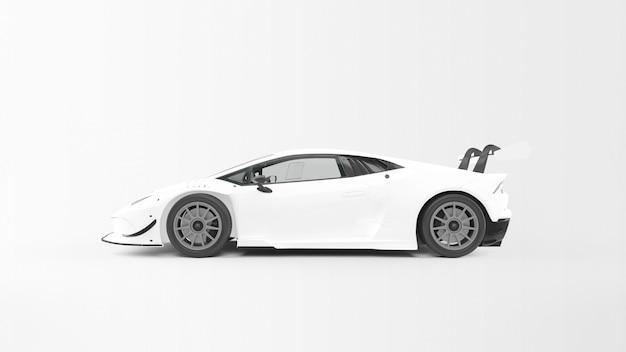 White sport car Free Psd