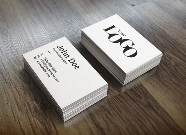 White Stack Business Cards Mockup Free Psd