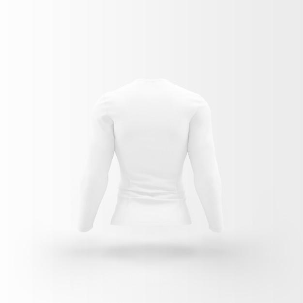 흰색에 떠있는 흰색 티셔츠 무료 PSD 파일