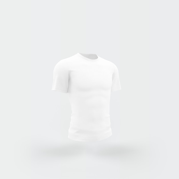White t-shirt floating on white Free Psd