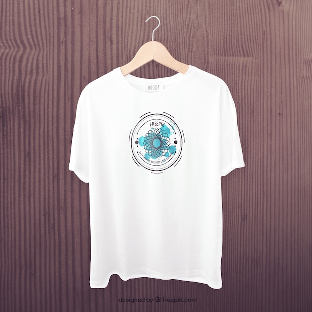 White t-shirt front mockup Free Psd