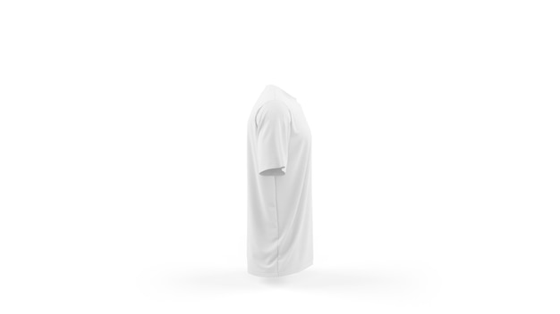 흰색 티셔츠 이랑 템플릿 절연, 측면보기 무료 PSD 파일