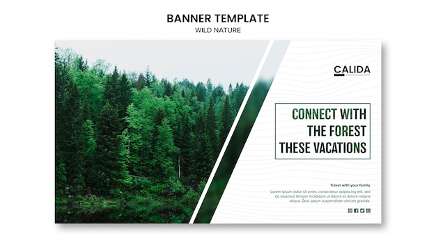 Wild nature banner template Free Psd