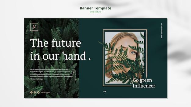Дикая природа концепция баннер шаблон макет Бесплатные Psd