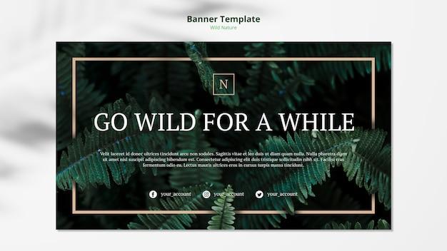 야생의 자연 개념 배너 템플릿 모형 무료 PSD 파일