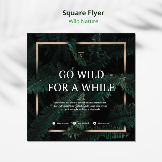 Дикая природа концепция квадратный флаер макет Бесплатные Psd