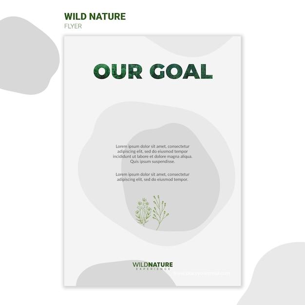 전단지 템플릿-야생의 자연 환경 무료 PSD 파일