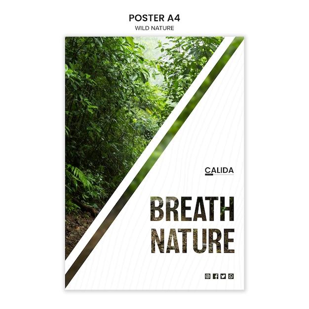 Шаблон плаката с дикой природой с фото Бесплатные Psd
