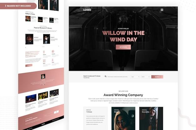 Страница ивы в ветре дня ветра Premium Psd