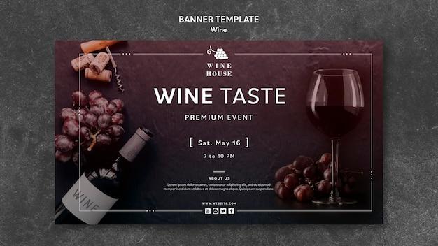 Tema del modello della bandiera del vino Psd Gratuite
