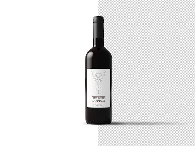 Wine bottle label mockup isolated Premium Psd