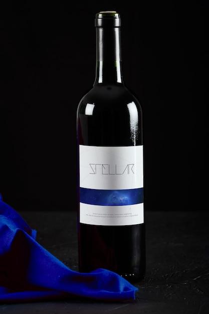 Wine Bottle Mock Up Design Psd File Premium Download