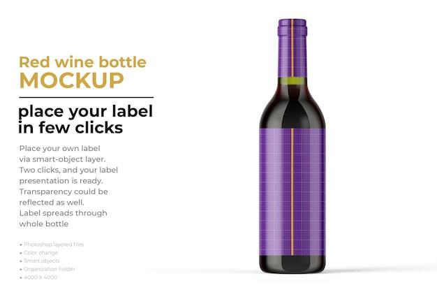Изолированный макет бутылки вина Premium Psd