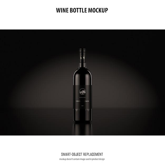 Макет бутылки вина Бесплатные Psd