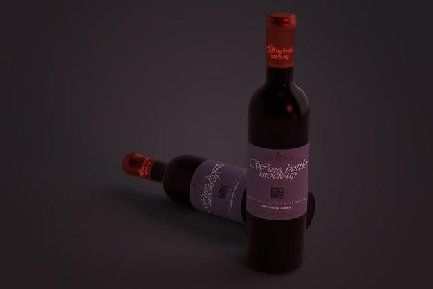 Wine bottle mockup Premium Psd