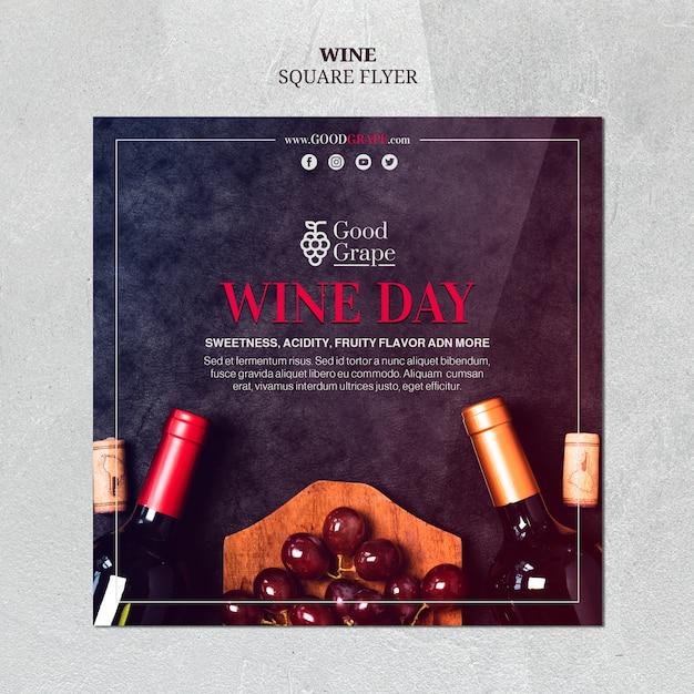 Wine flyer template design Free Psd