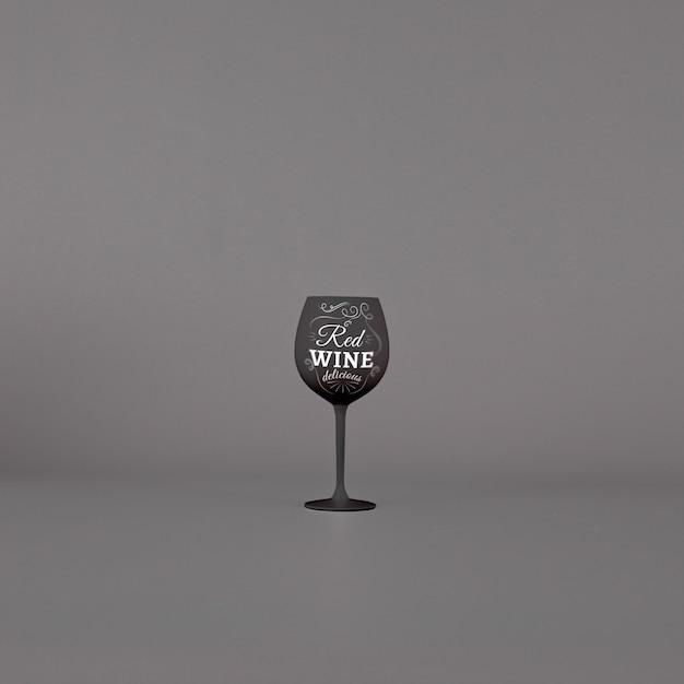 Wine glass mockup Free Psd
